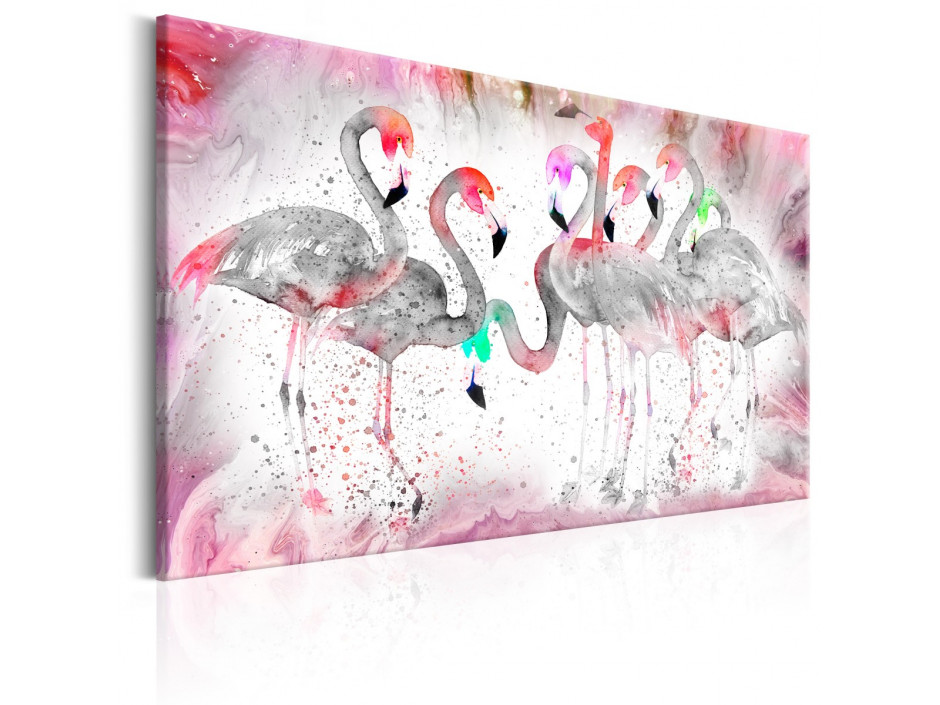 Tableau - Flamingoes Family
