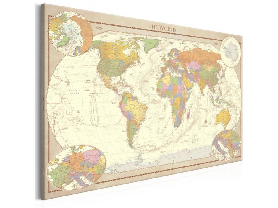Tableau  Cream World Map