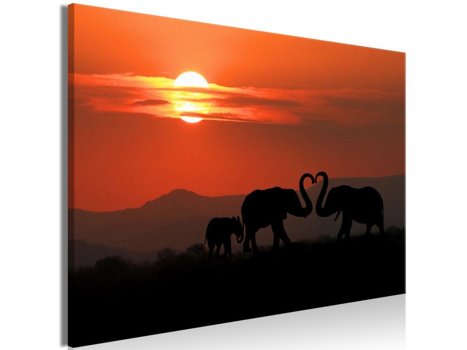 Tableau - Elephants in Love (1 Part) Wide