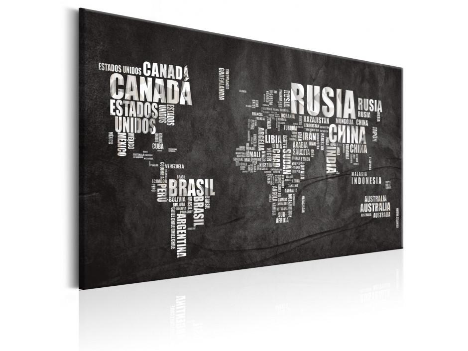 Tableau  World Map Mundo Negro