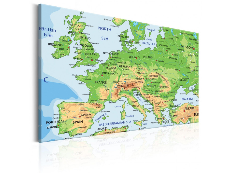 Tableau  Map of Europe