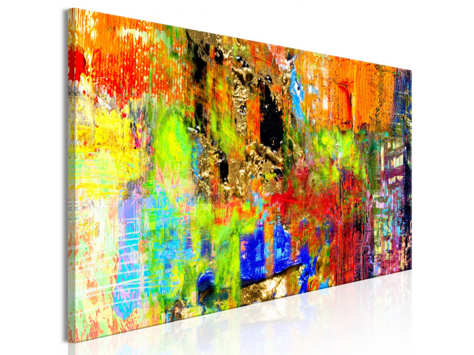 Tableau  Colourful Abstraction (1 Part) Narrow
