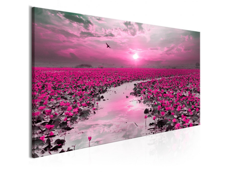 Tableau - Lilies and Sunset (1 Part) Narrow