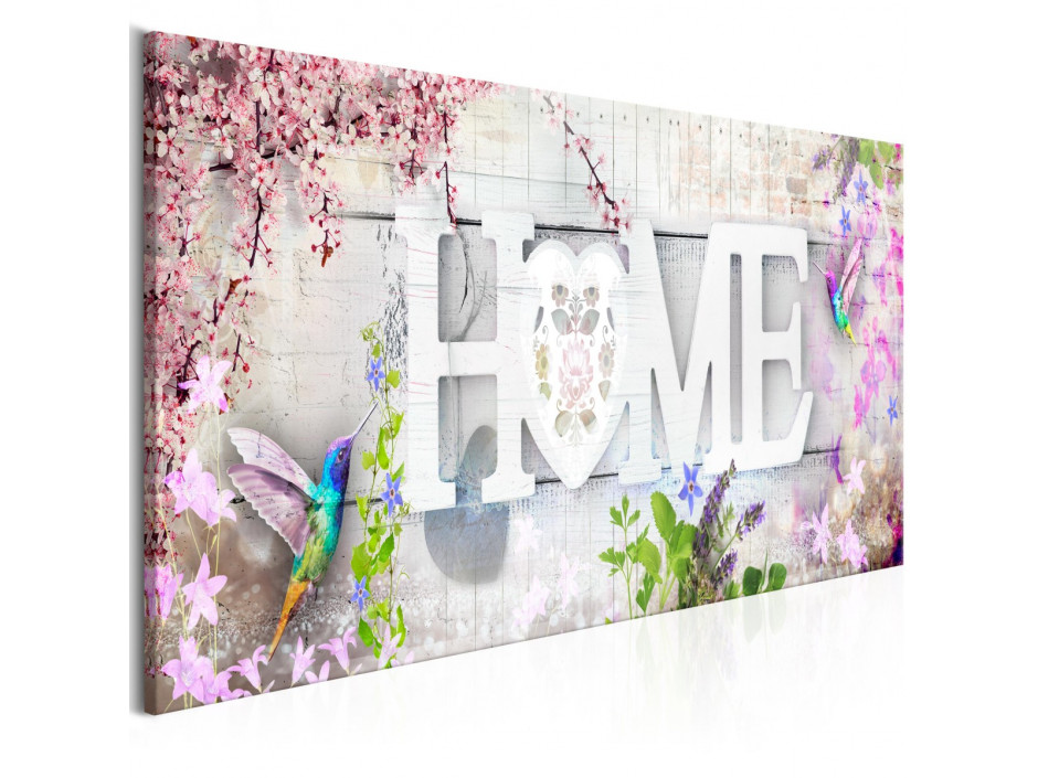 Tableau  Home and Hummingbirds (1 Part) Pink Narrow