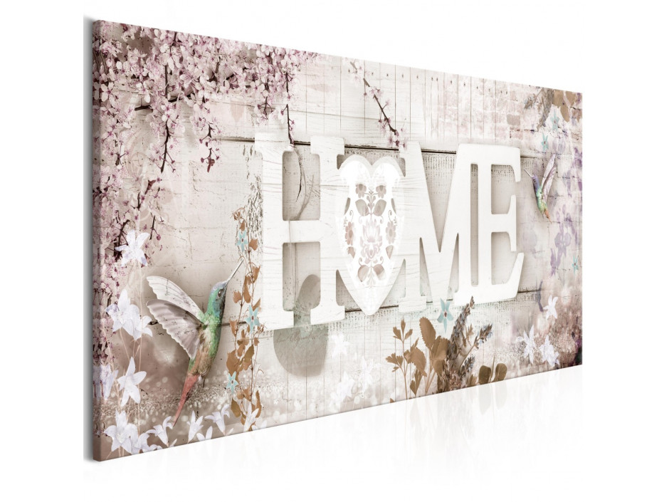 Tableau  Home and Hummingbirds (1 Part) Beige Narrow