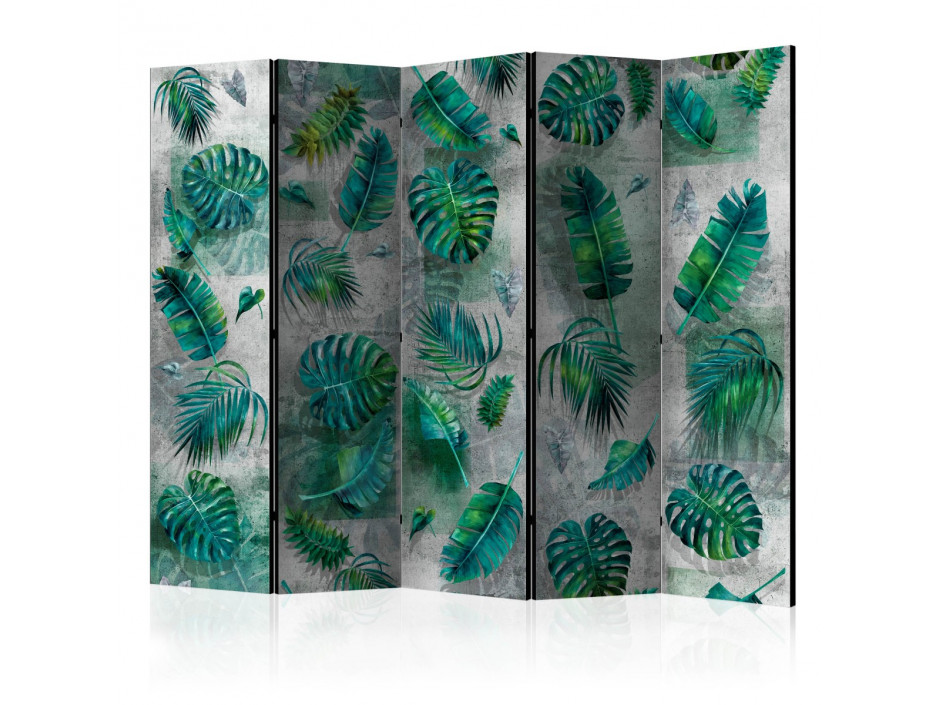 Paravent 5 volets Modernist Jungle II [Room Dividers]
