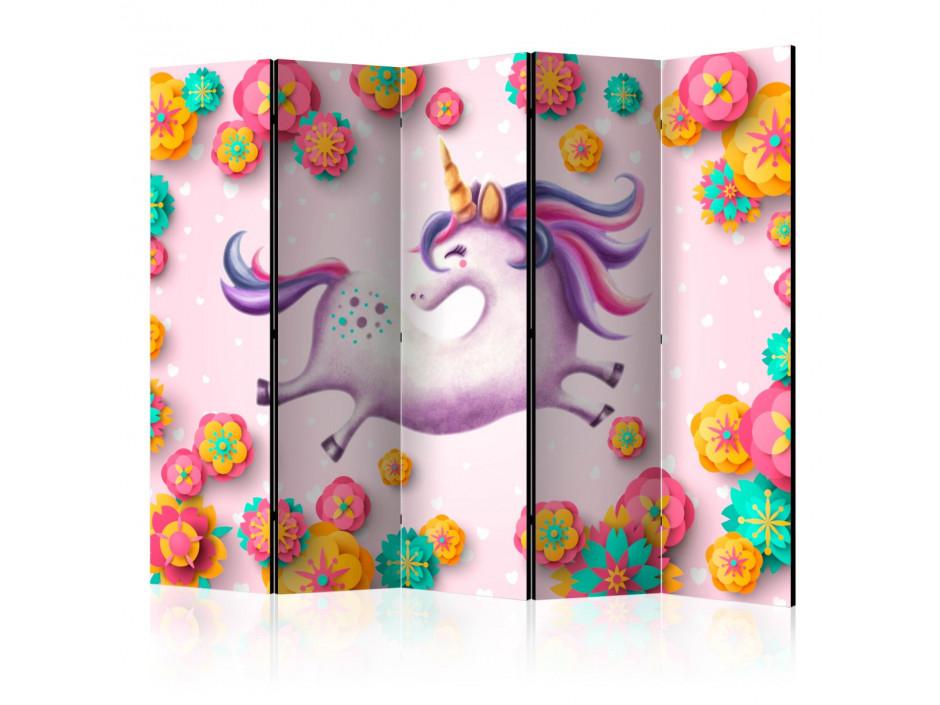 Paravent 5 volets Lithe Unicorn II [Room Dividers]