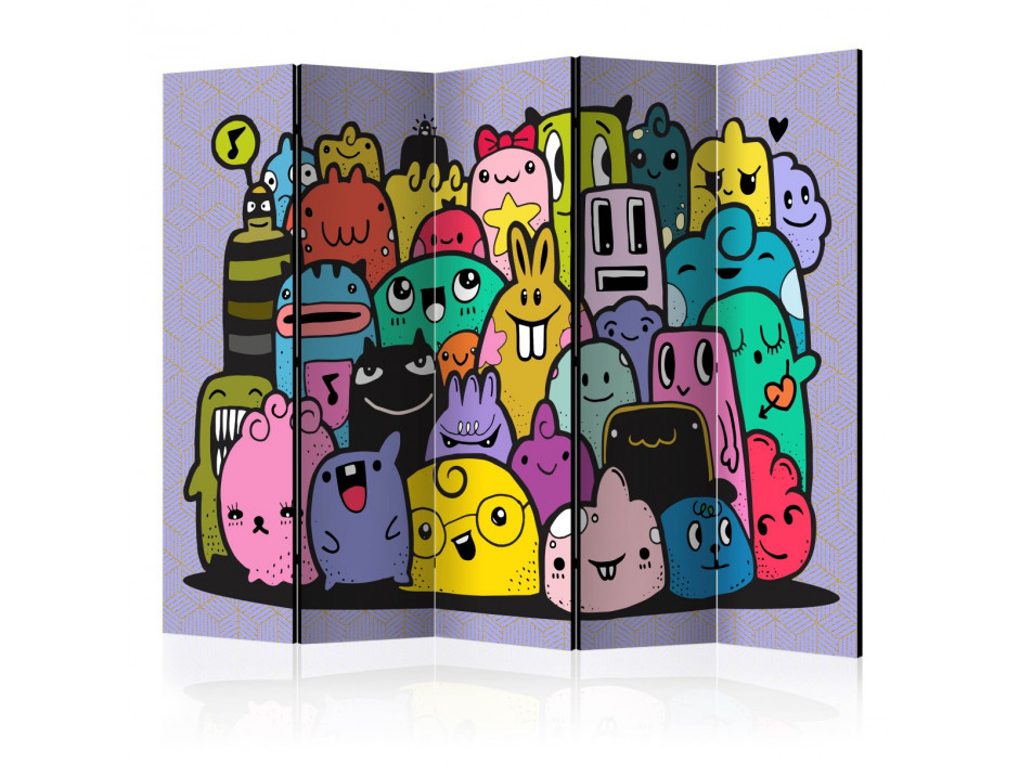 Paravent 5 volets Monsters from 3rd C Grade II [Room Dividers]