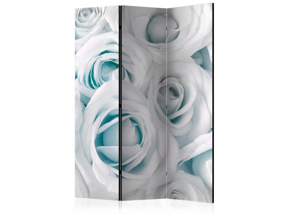 Paravent 3 volets  Satin Rose (Turquoise) [Room Dividers]