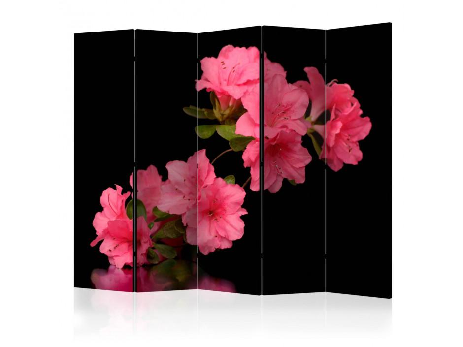 Paravent 5 volets  Azalea in Black [Room Dividers]