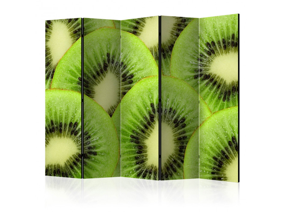 Paravent 5 volets  Kiwi slices [Room Dividers]