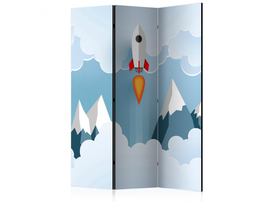 Paravent 3 volets  Rocket in the Clouds [Room Dividers]
