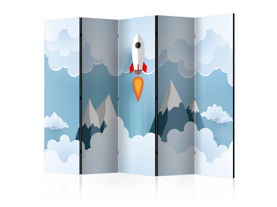 Paravent 5 volets  Rocket in the Clouds [Room Dividers]