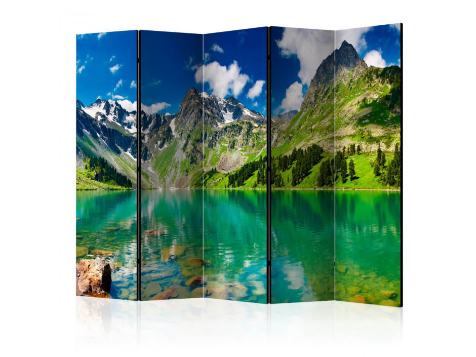 Paravent 5 volets  Mountain lake [Room Dividers]