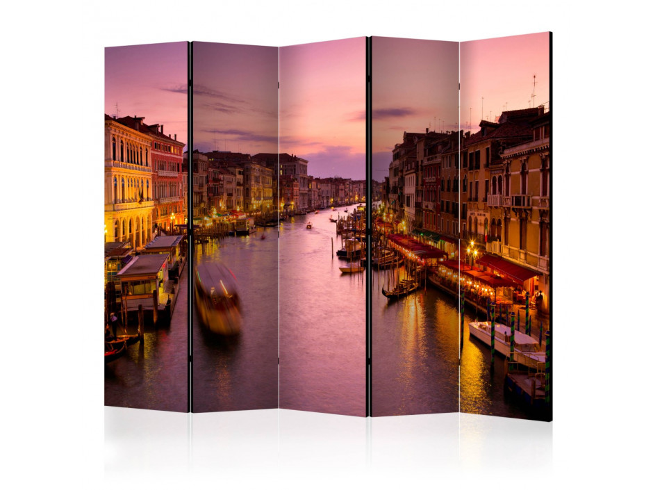 Paravent 5 volets  City of lovers, Venice by night [Room Dividers]