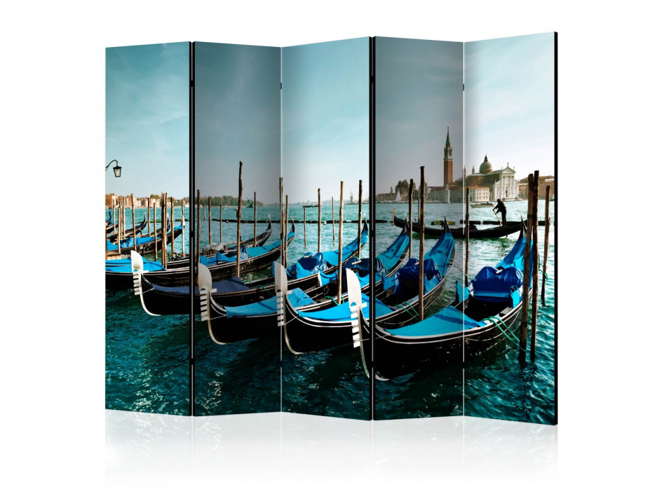 Paravent 5 volets  Gondolas on the Grand Canal, Venice [Room Dividers]