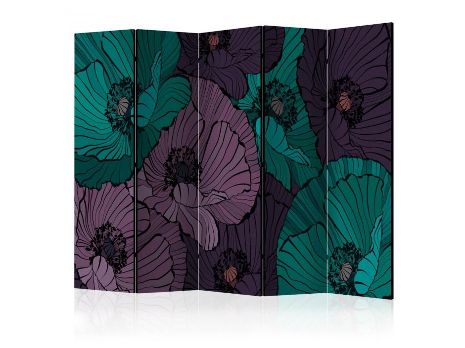 Paravent 5 volets  Flowerbed [Room Dividers]