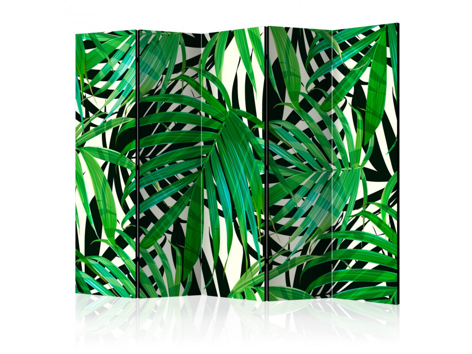 Paravent 5 volets  Tropical Leaves [Room Dividers]