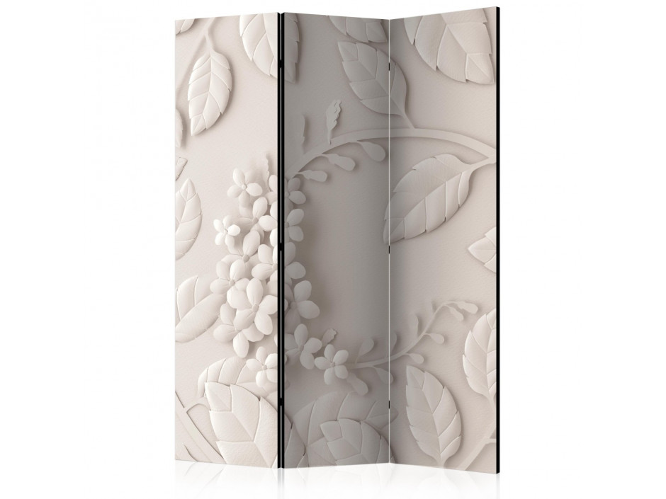 Paravent 3 volets  Paper Flowers (Cream) [Room Dividers]