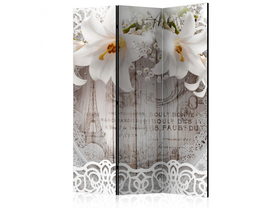 Paravent 3 volets  Lilies and Quilted Background [Room Dividers]