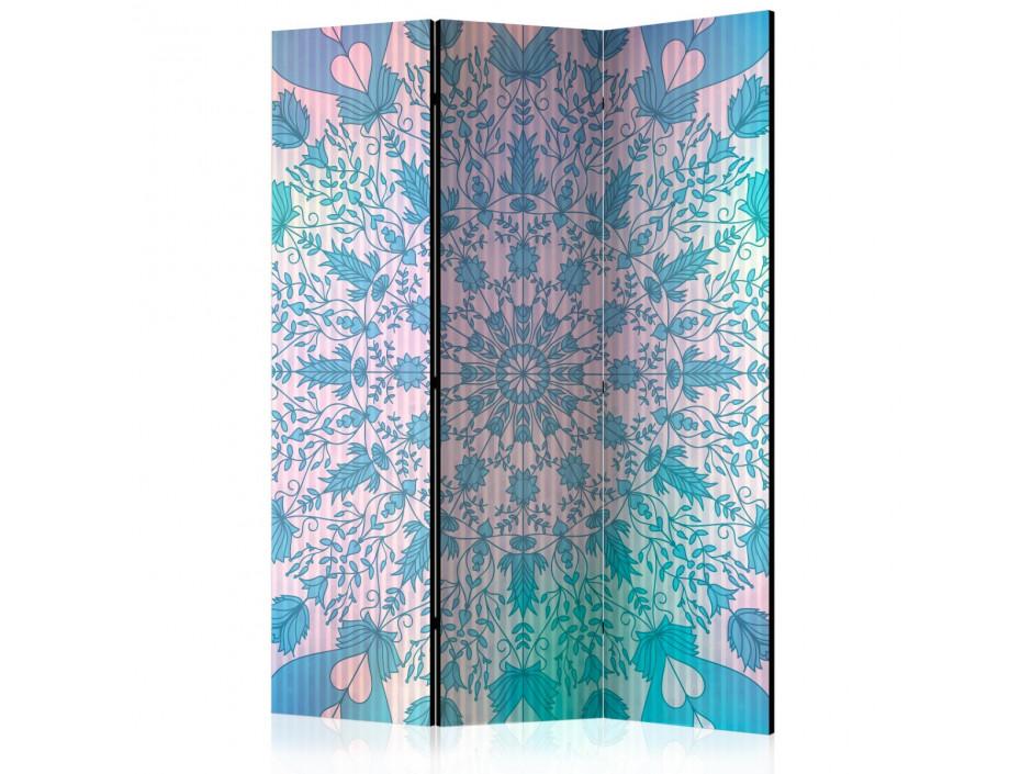 Paravent 3 volets  Girly Mandala (Blue) [Room Dividers]
