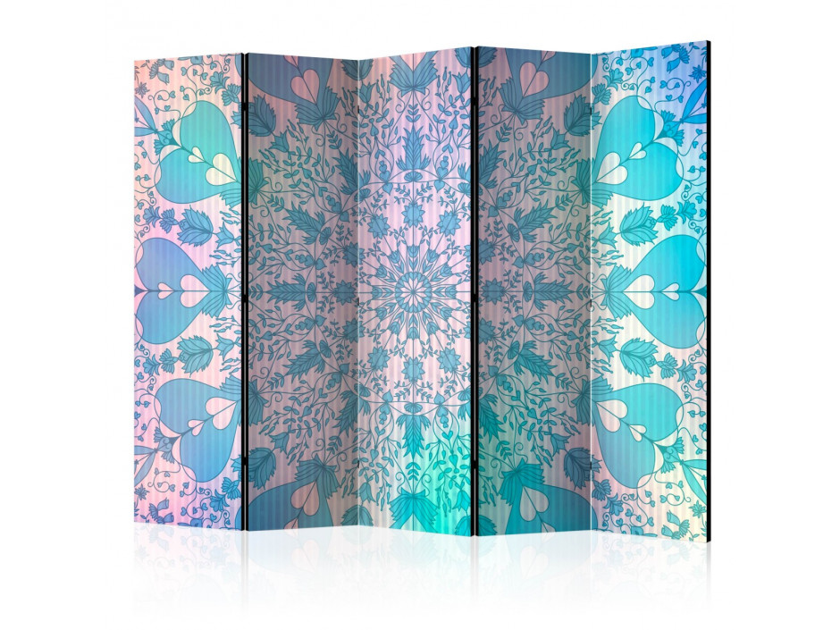 Paravent 5 volets  Girly Mandala (Blue) [Room Dividers]