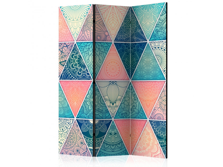 Paravent 3 volets  Oriental Triangles [Room Dividers]