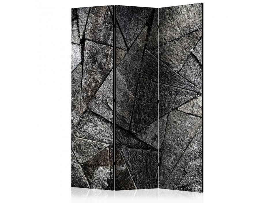 Paravent 3 volets  Pavement Tiles (Grey) [Room Dividers]