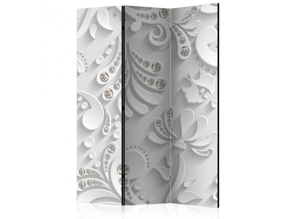 Paravent 3 volets  Flowers with Crystals [Room Dividers]