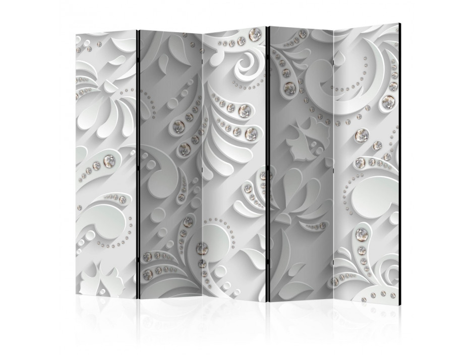 Paravent 5 volets  Flowers with Crystals [Room Dividers]