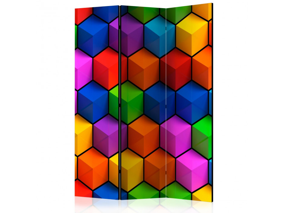 Paravent 3 volets  Colorful Geometric Boxes [Room Dividers]