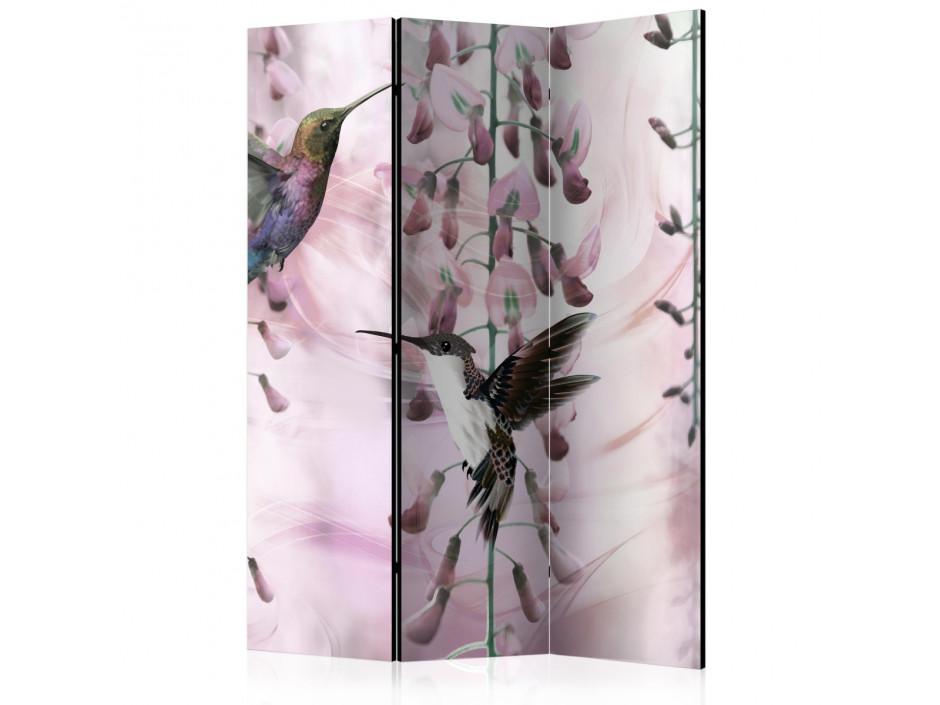 Paravent 3 volets  Flying Hummingbirds (Pink) [Room Dividers]
