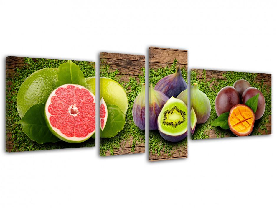Tableau toile déco cuisine TRIO DE FRUITS