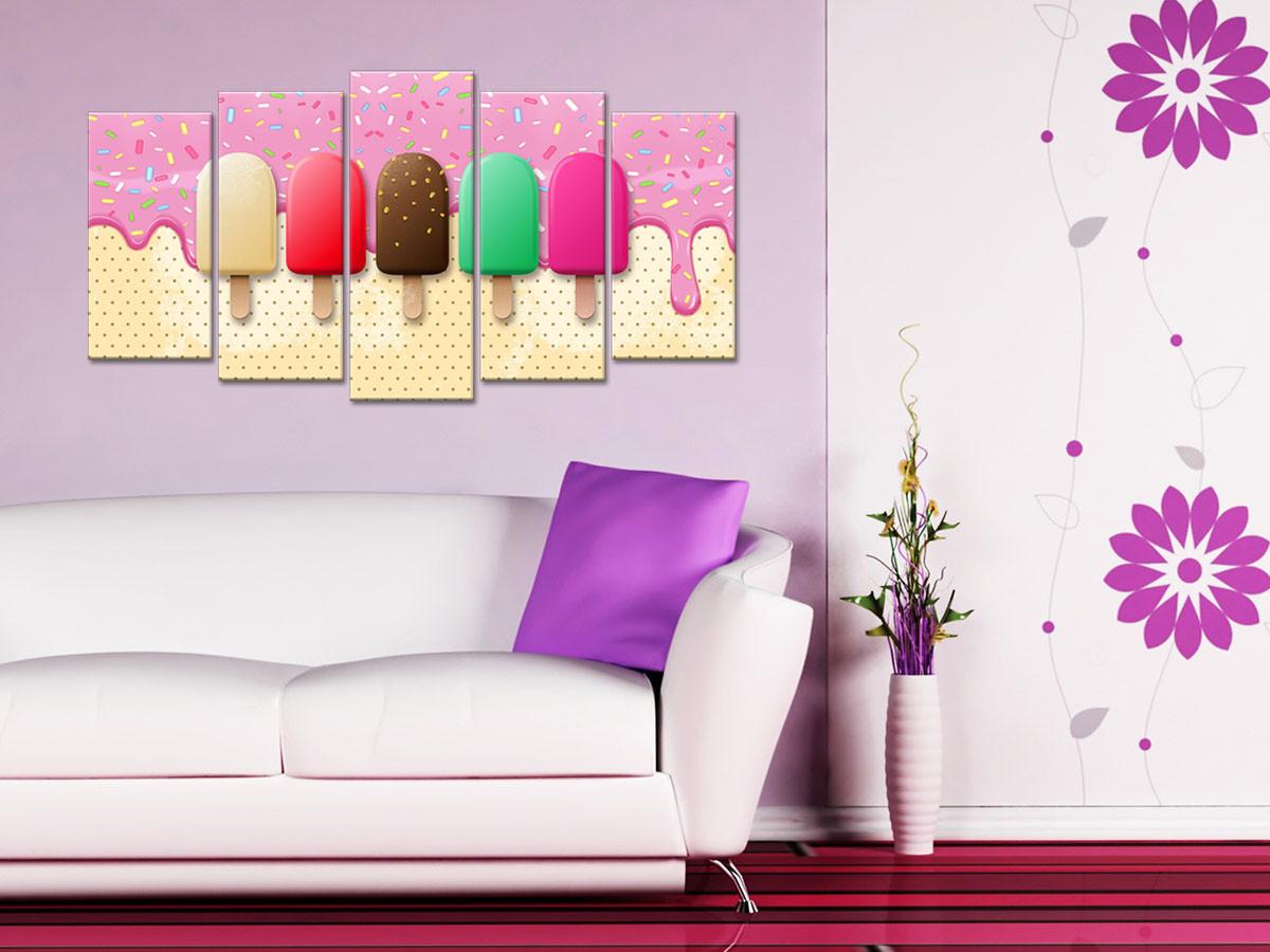 Tableau grand format déco cuisine glaces en 17 panneaux - Declina