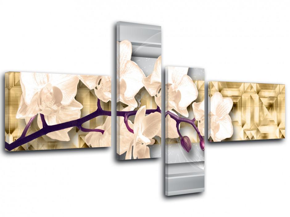 Tableau toile fleurs décoration MACRO ORCHIDÉES