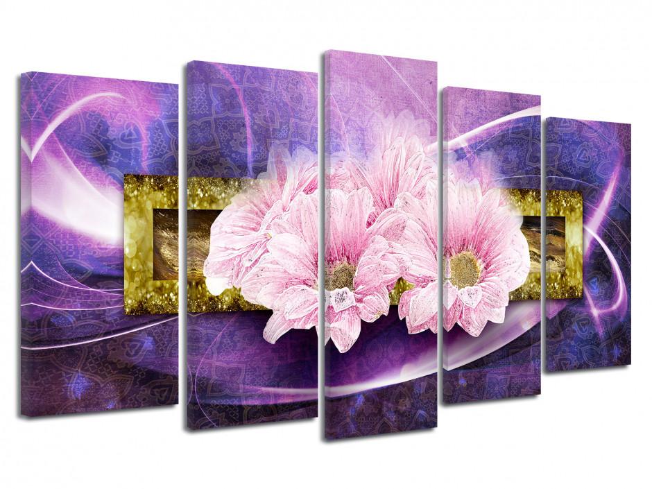Tableau toile décoration FLEURS ROSES