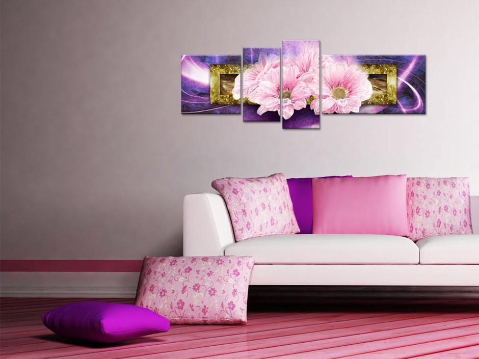 Tableau toile fleurs BOUQUET DE MARGUERITES