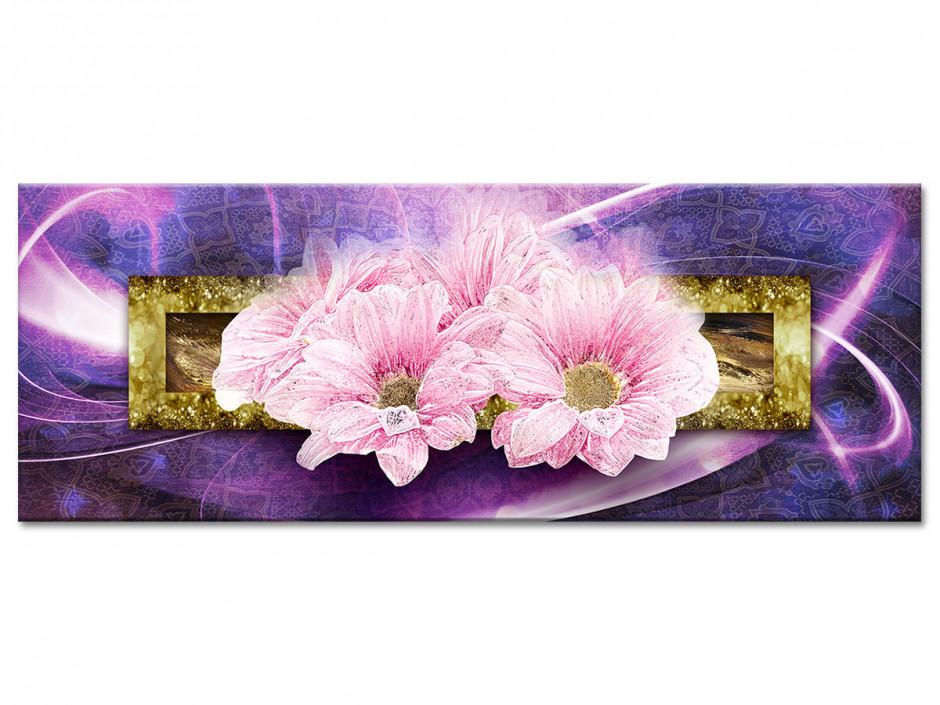 Tableau toile cadre deco fleurs MARGUERITES