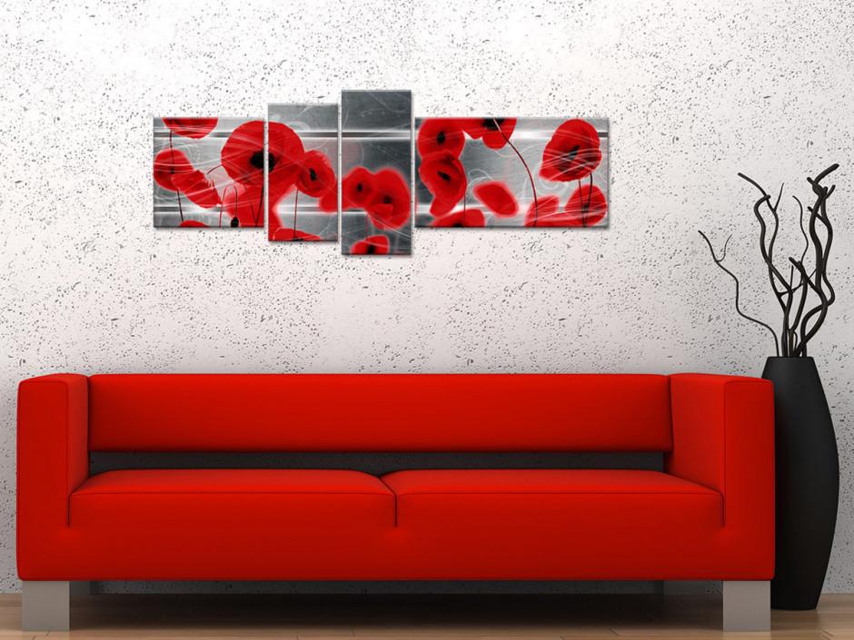 Tableau toile déco murale COQUELICOTS