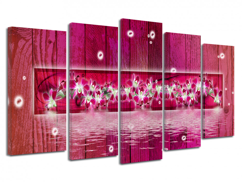 Tableau toile décoration FRISE ORCHIDÉES