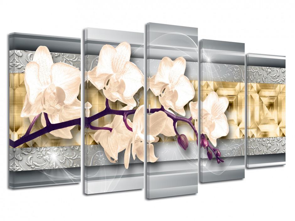 Tableau décoratif moderne Fleurs Orchidée