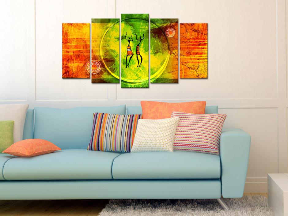 Tableau toile africain design ZUMBA