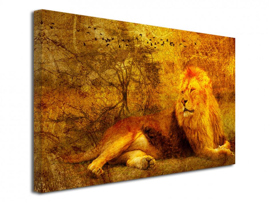 Tableau toile déco vintage ANIMAL AFRICAIN