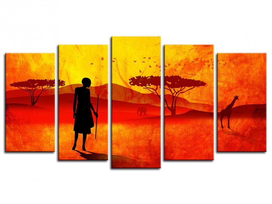 Tableau toile ARBRE AFRICAIN