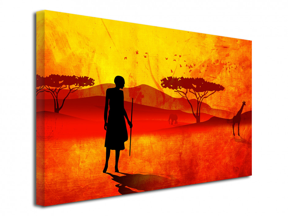 Tableau toile moderne PAYSAGE AFRICAIN