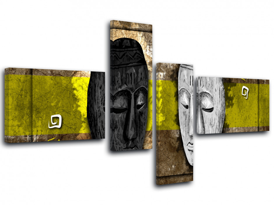 Tableau toile MASQUES AFRICAINS