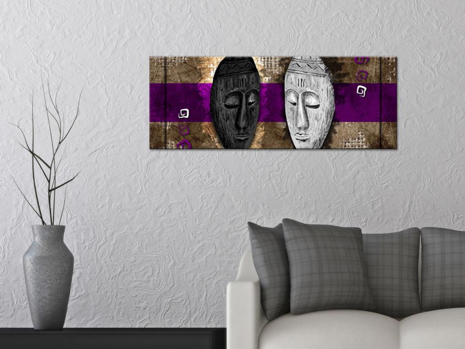 Tableau toile panoramique DECO AFRICAINE