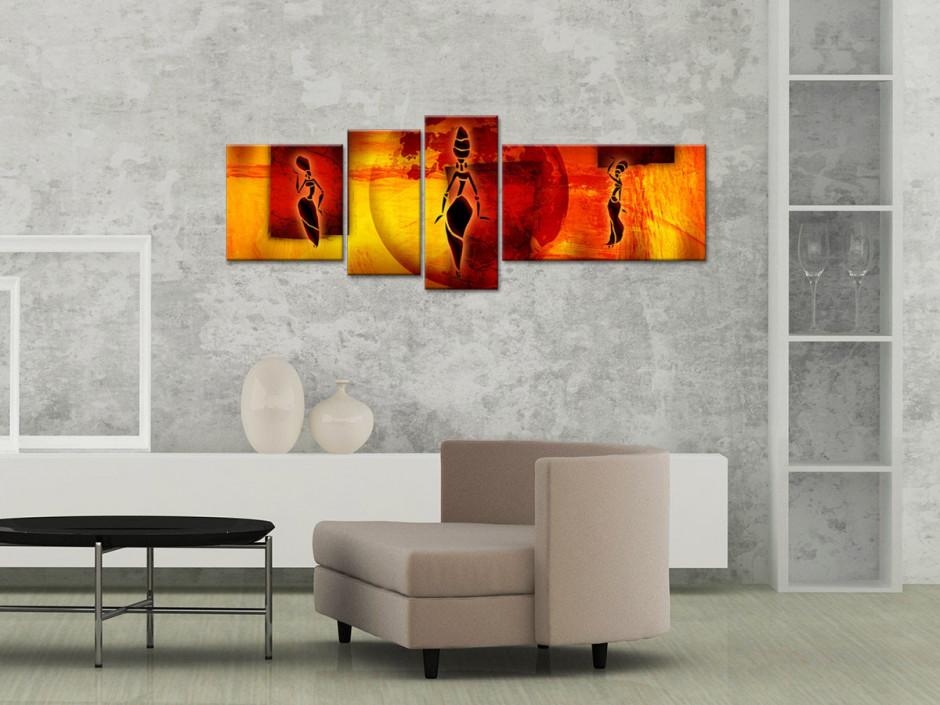 Tableau toile decoration AFRICAN WOMEN