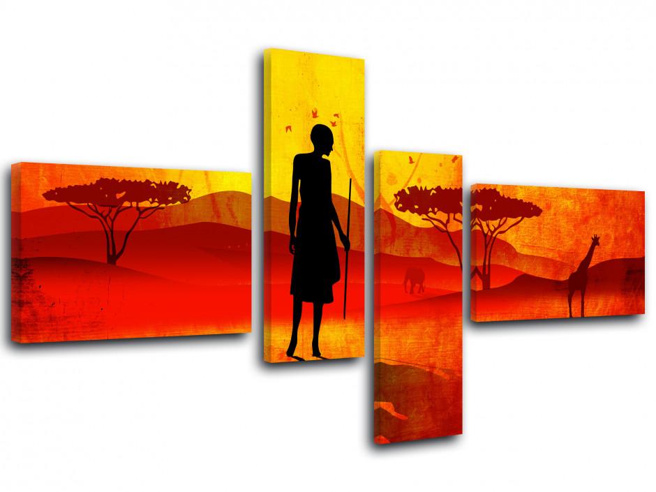 Tableau toile SAVANE AFRICAINE