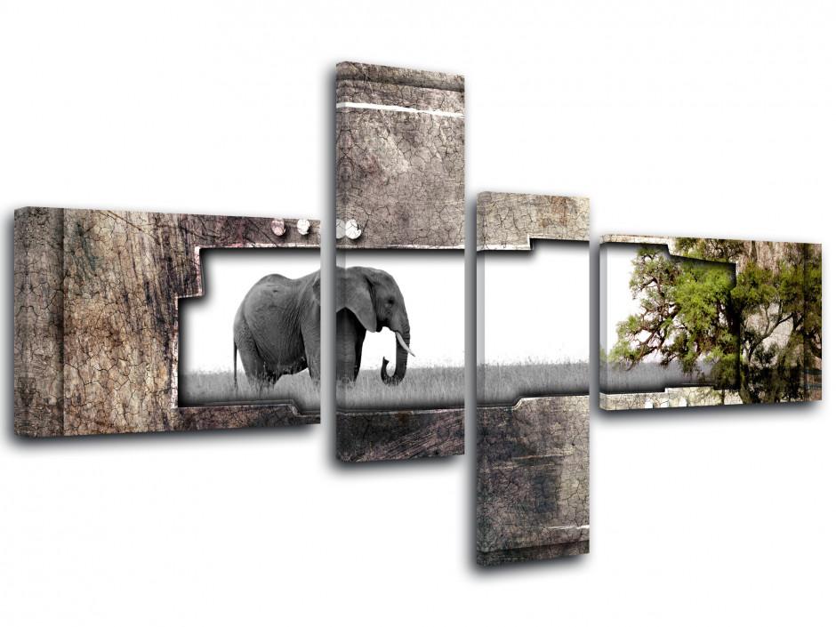 Tableau toile photo ÉLÉPHANT AFRIQUE